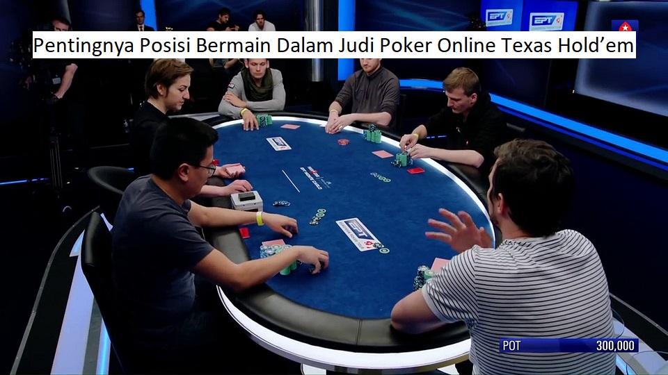 posisi bermain judi poker online